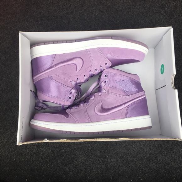 official photos 418a2 f2f43 NEW Nike Air Jordan 1 Purple Sneakers Sz 8 NWT